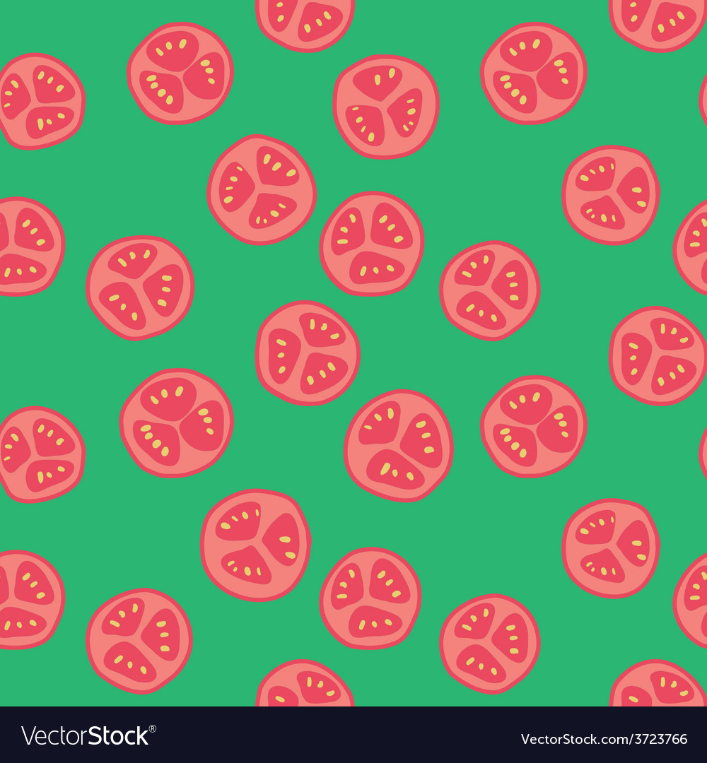 Stylized tomato pattern vector | Price: 1 Credit (USD $1)