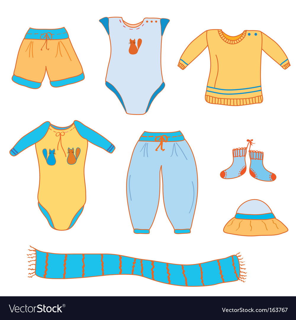 Baby boy clothes vector | Price: 1 Credit (USD $1)