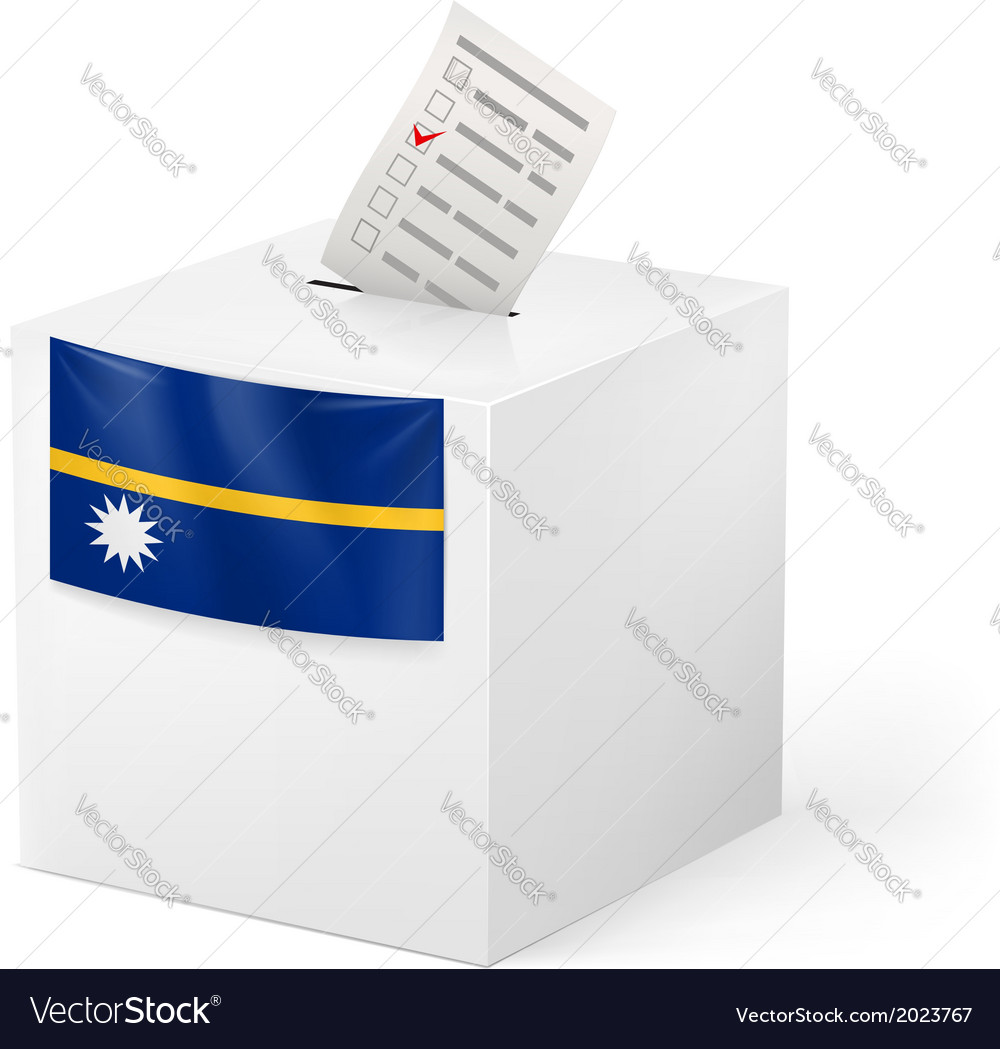 Ballot box with voting paper nauru vector | Price: 1 Credit (USD $1)