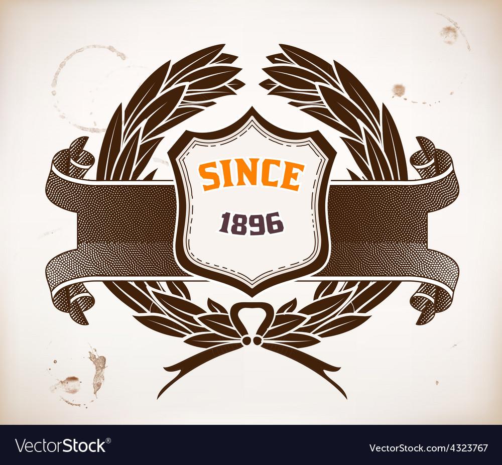 Baroque design with heraldic shield vector | Price: 1 Credit (USD $1)