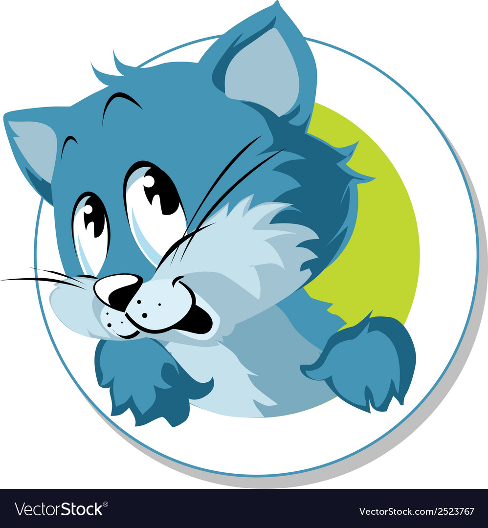 Blue cat vector