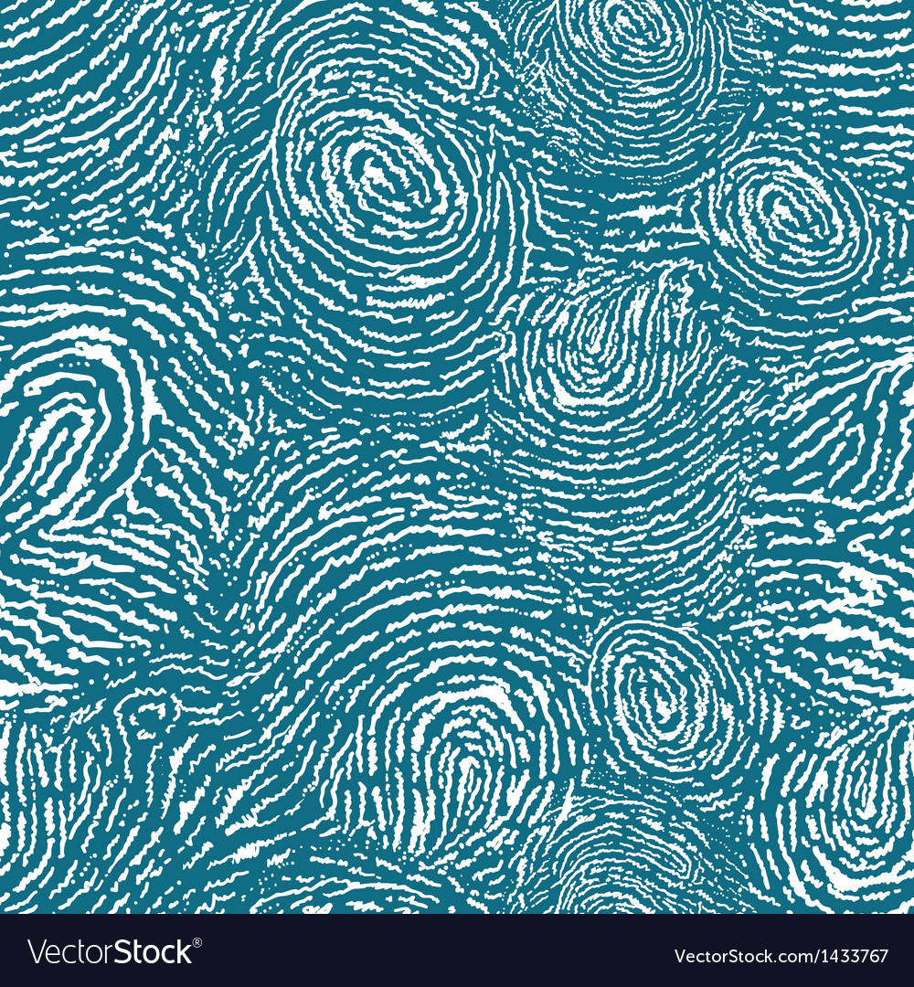Finger print texture seamless pattern background vector | Price: 1 Credit (USD $1)