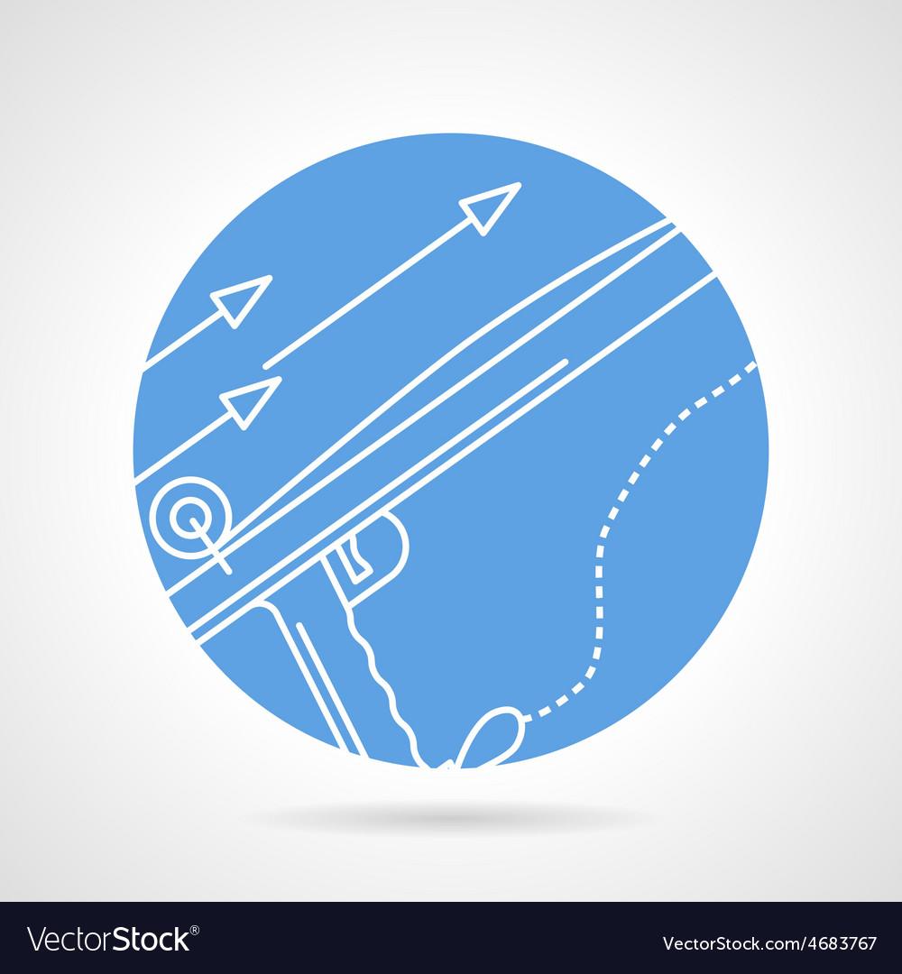Harpoon blue round icon vector   Price: 1 Credit (USD $1)