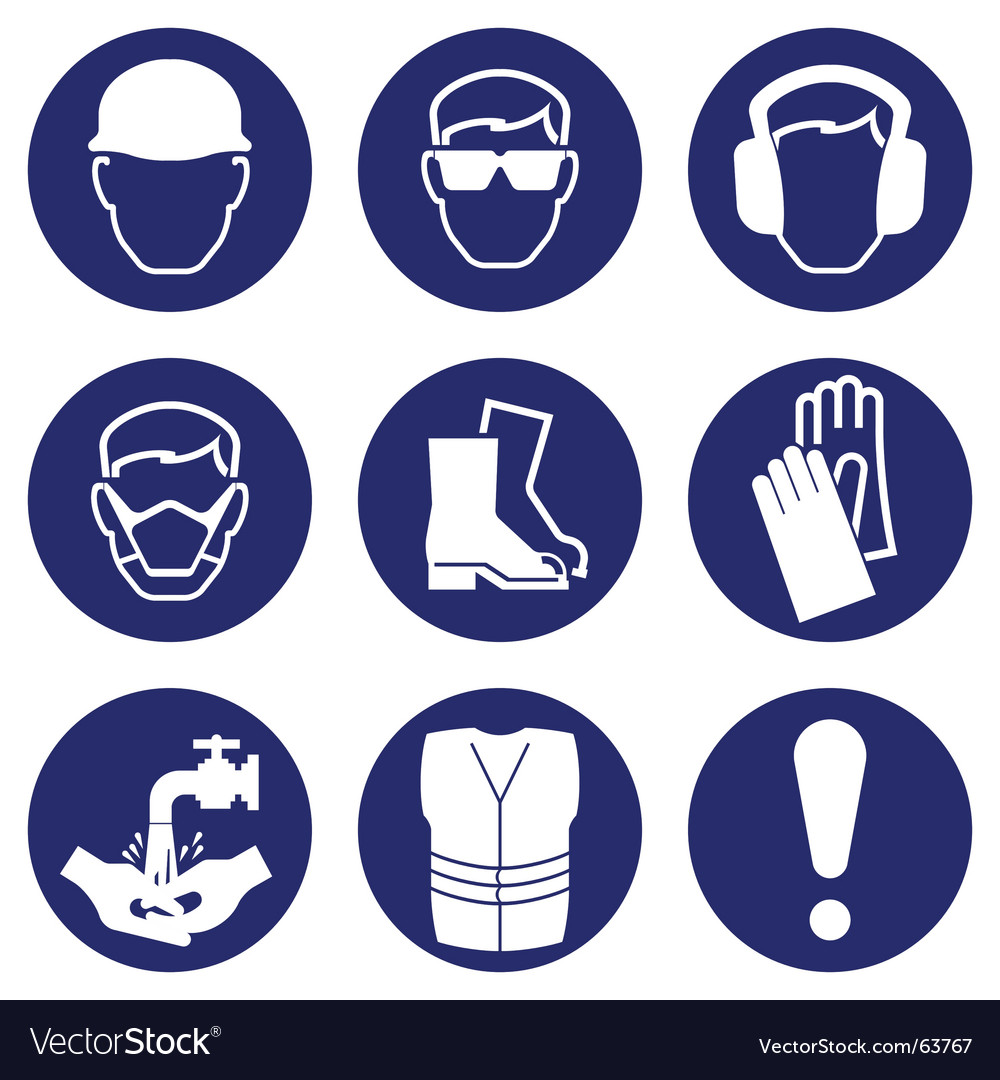 Health safety icons vector | Price: 1 Credit (USD $1)