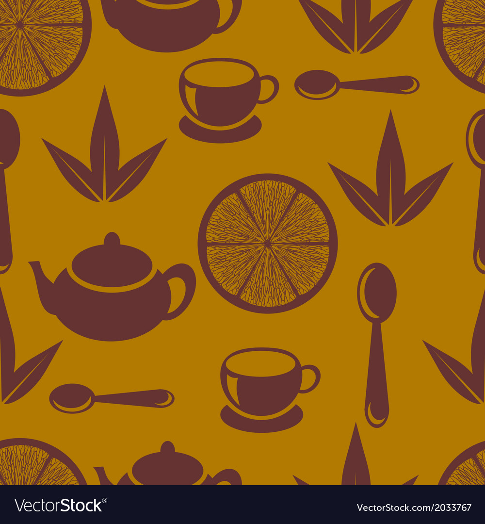 Seamless pattern with tea pots and tea cups vector | Price: 1 Credit (USD $1)