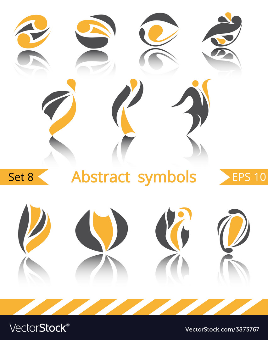Set of different abstract flat summer and spring vector | Price: 1 Credit (USD $1)