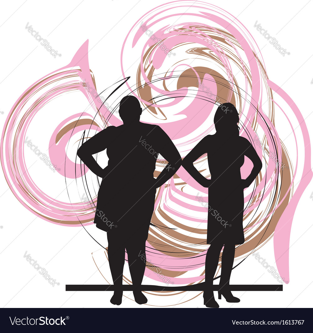 Two women vector | Price: 1 Credit (USD $1)