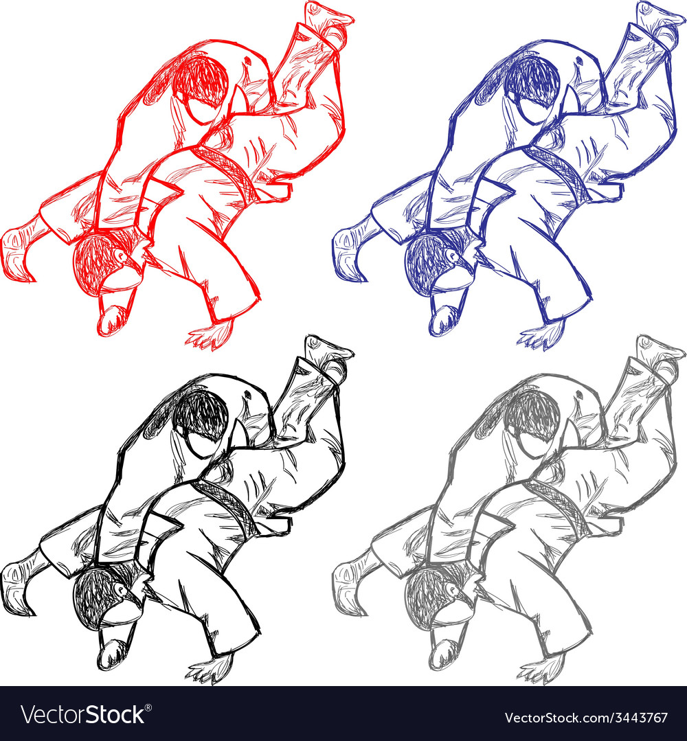 Vetctor collection of judo for cutting vector | Price: 1 Credit (USD $1)