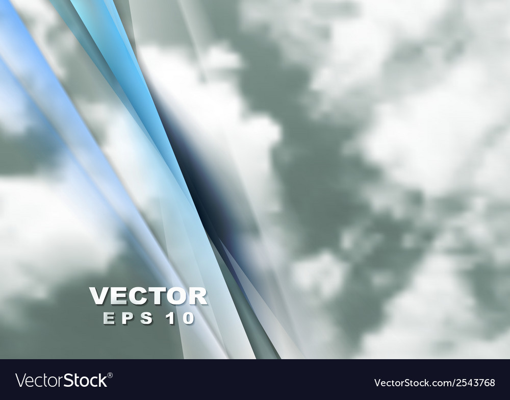 Abstract cloudy sky background vector | Price: 1 Credit (USD $1)