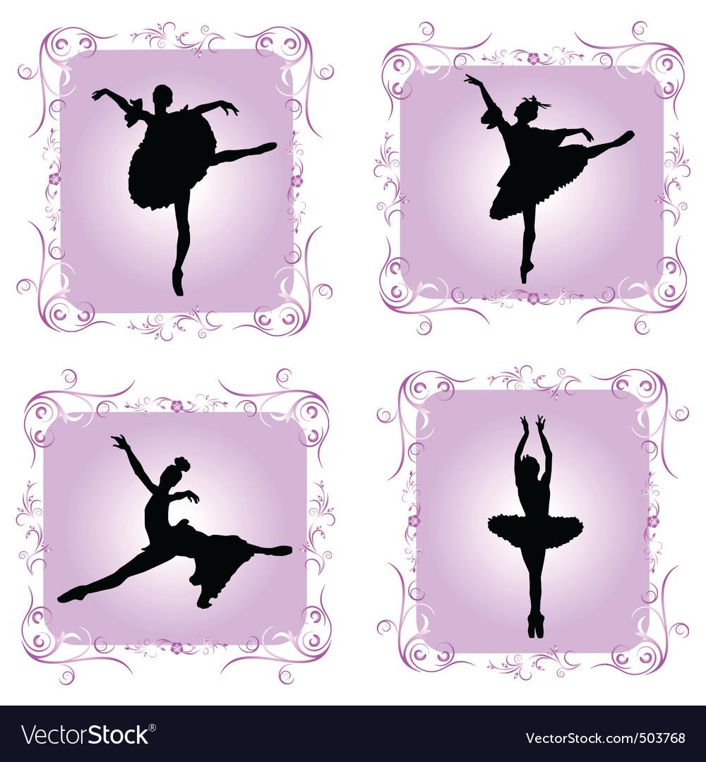 Ballet dancers vector | Price: 1 Credit (USD $1)