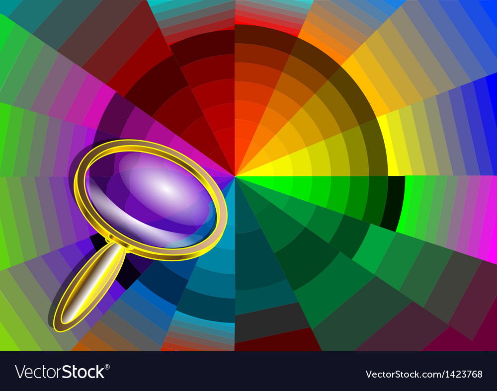 Color circle and magnifier vector | Price: 1 Credit (USD $1)