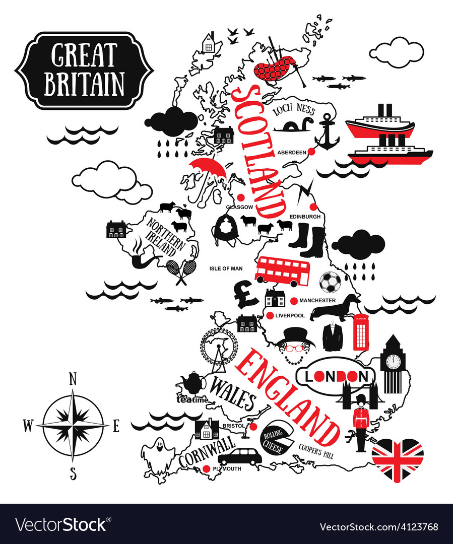 England map vector | Price: 3 Credit (USD $3)