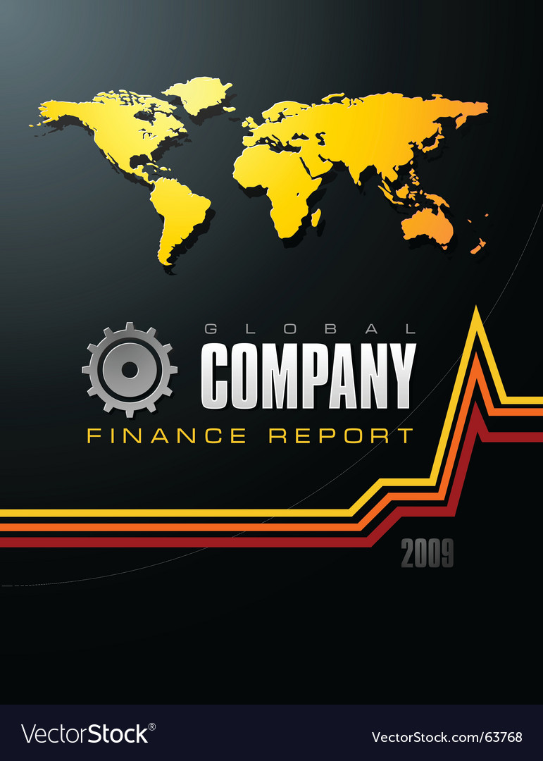 Global company report vector | Price: 1 Credit (USD $1)