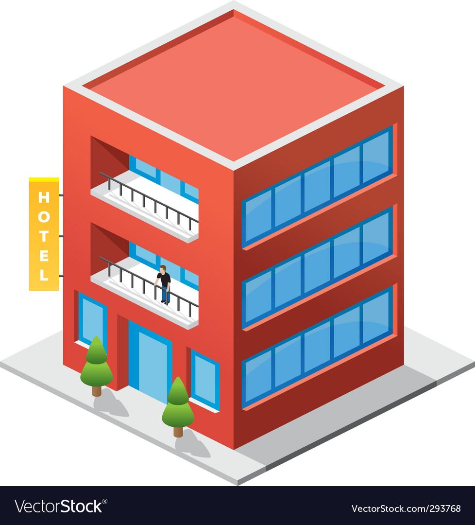 Isometric hotel vector | Price: 3 Credit (USD $3)
