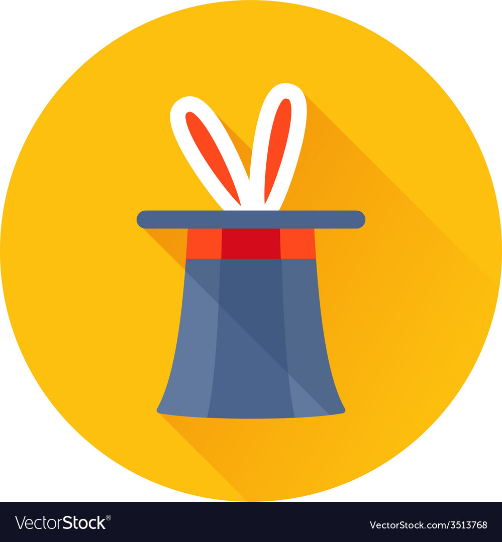 Magician hat with rabbit ears icon vector | Price: 1 Credit (USD $1)