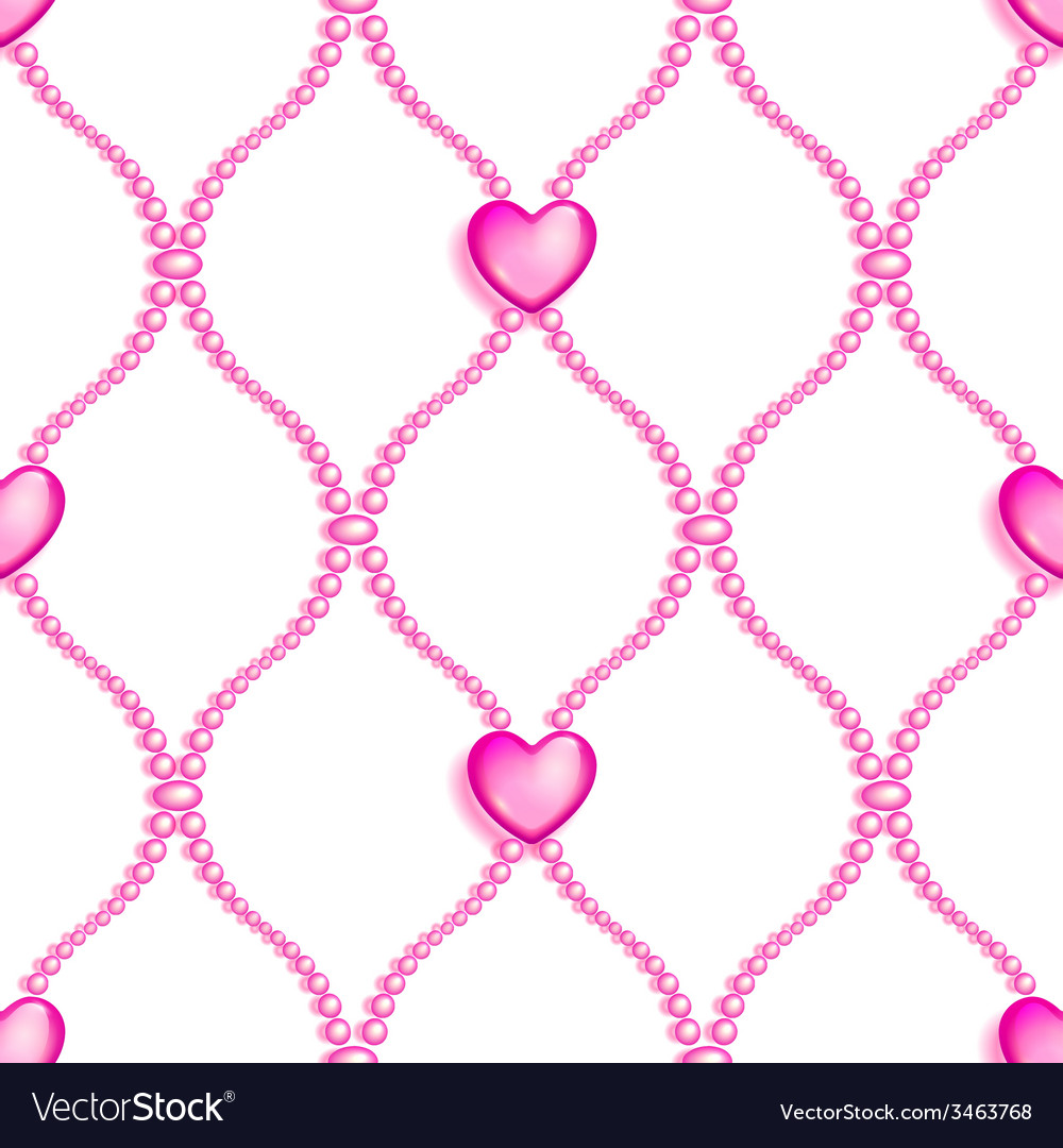 Pink seamless glass beads vector | Price: 1 Credit (USD $1)