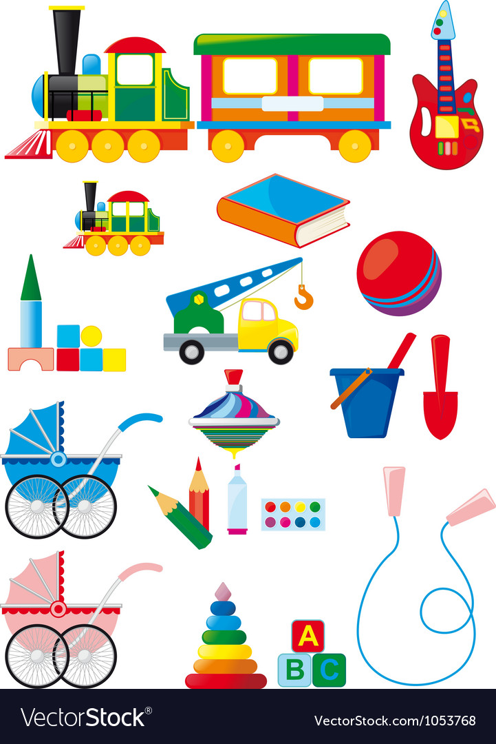 Set of children toys vector | Price: 1 Credit (USD $1)