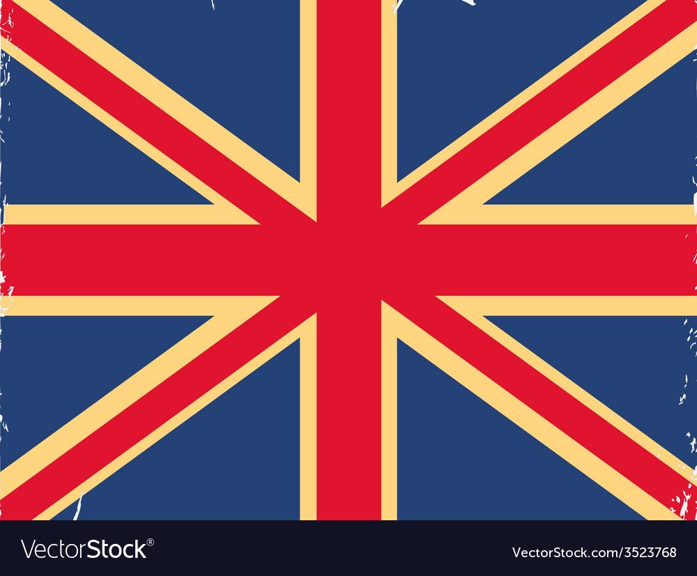 Shabby british flag vector | Price: 1 Credit (USD $1)