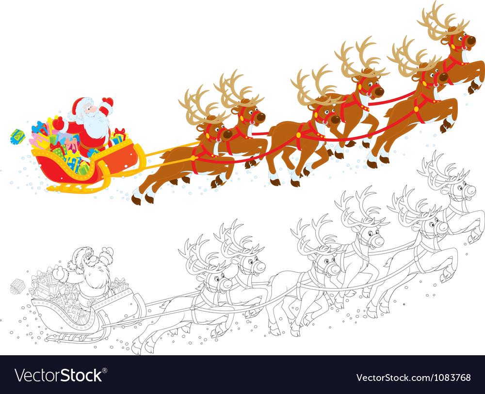 Sleigh of santa claus vector | Price: 1 Credit (USD $1)