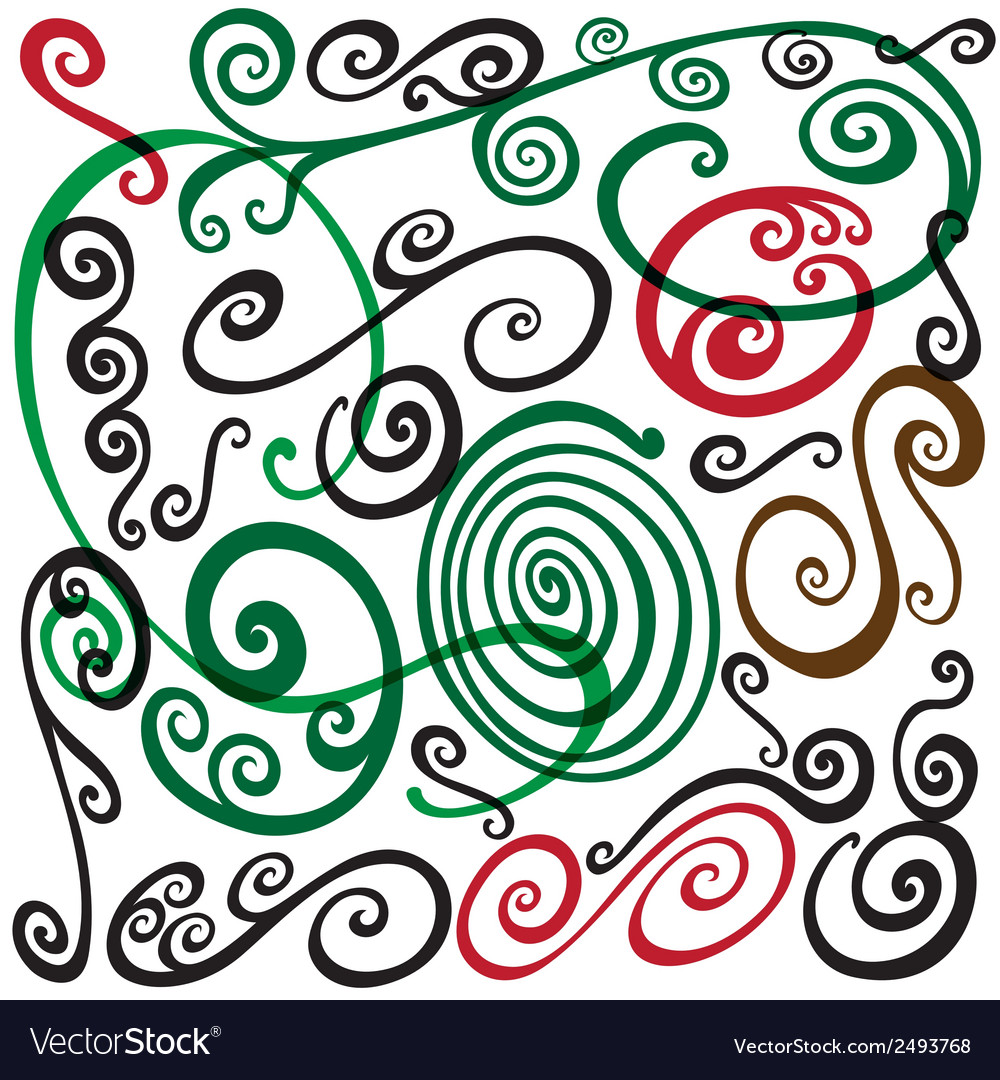 Swirls doodles vector | Price: 1 Credit (USD $1)