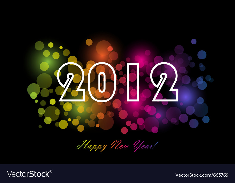 2012 - new year background vector | Price: 1 Credit (USD $1)