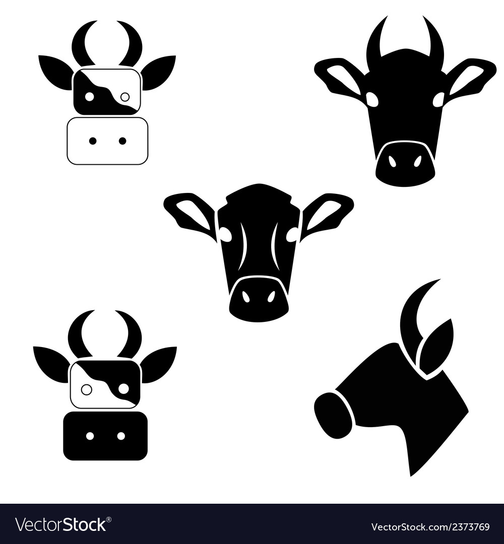 Abstract cows head vector | Price: 1 Credit (USD $1)