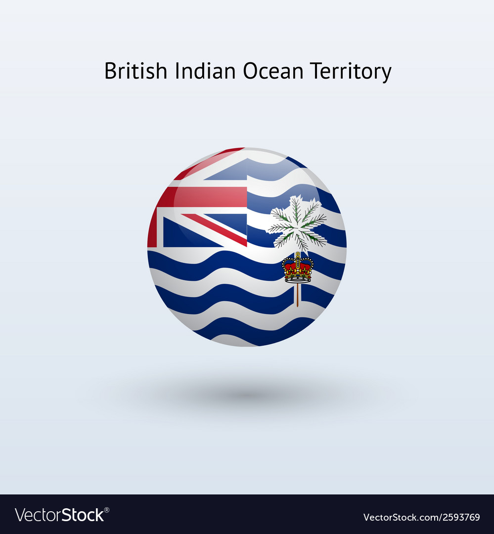British indian ocean territory round flag vector | Price: 1 Credit (USD $1)