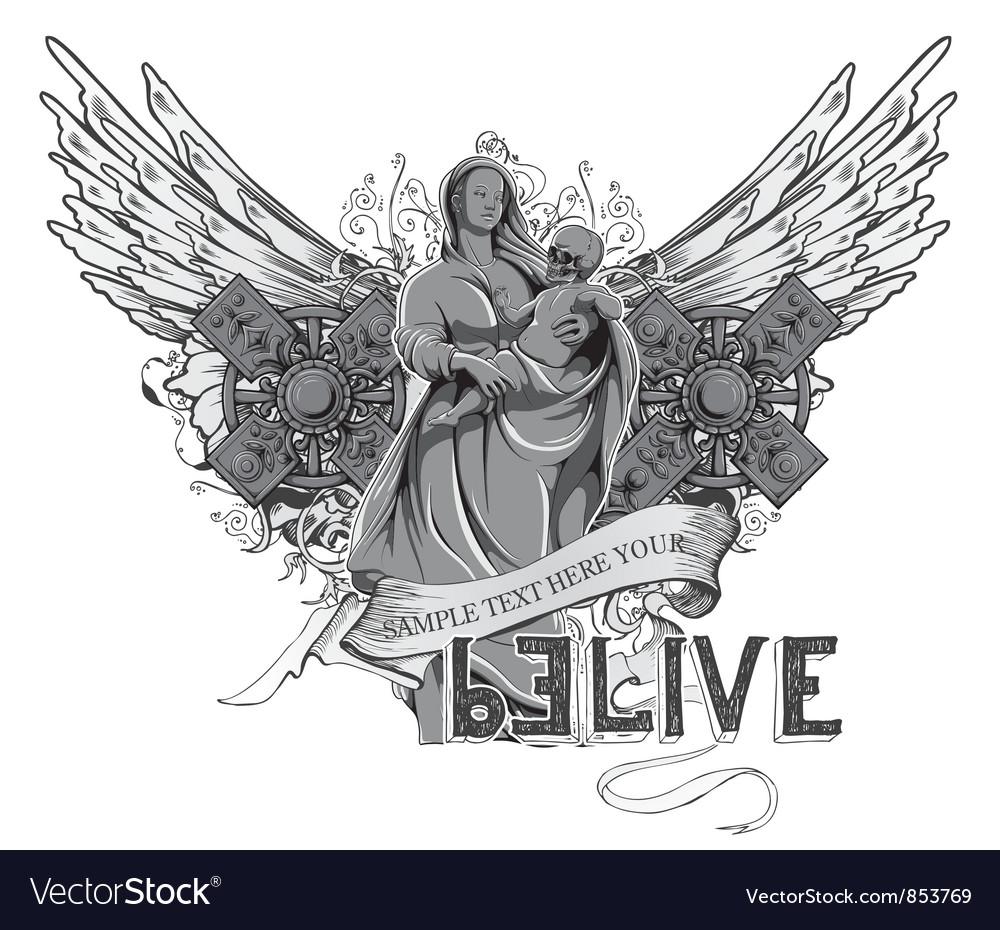 Dark gothic t-shirt design vector   Price: 1 Credit (USD $1)