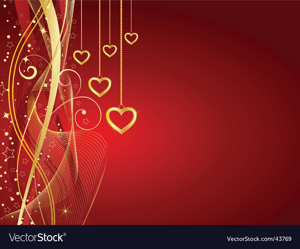Golden hearts vector | Price: 1 Credit (USD $1)