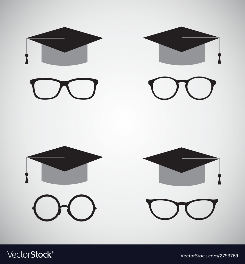 Hat and glasses vector | Price: 1 Credit (USD $1)