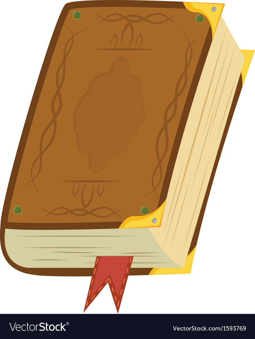 Leather magic book vector | Price: 1 Credit (USD $1)