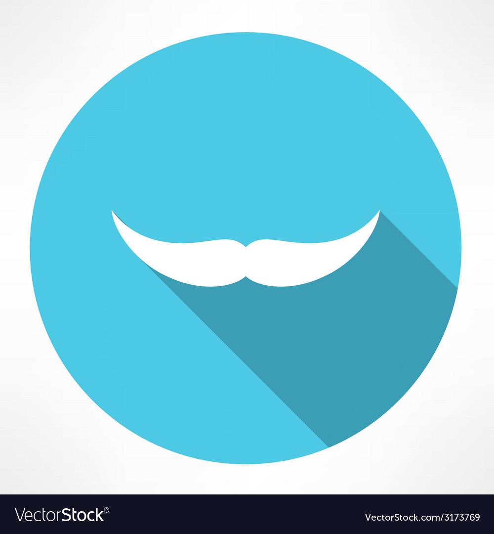 Mustache icon vector | Price: 1 Credit (USD $1)