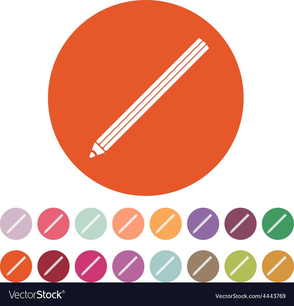 The pencil icon pencil symbol flat vector | Price: 1 Credit (USD $1)