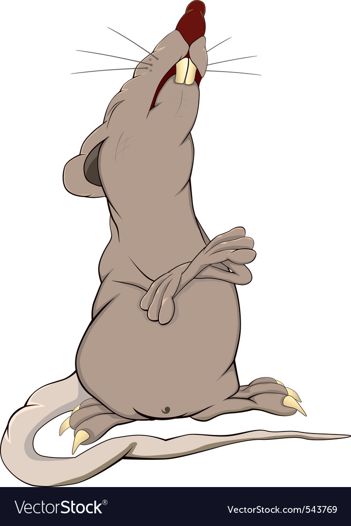 Proud rat cartoon vector | Price: 3 Credit (USD $3)