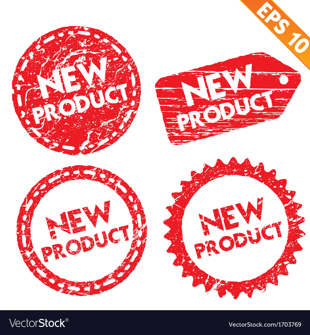 Stamp stitcker new product tag collection - vector | Price: 1 Credit (USD $1)