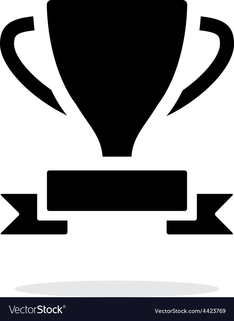 Trophy and awards icon on white background vector | Price: 1 Credit (USD $1)