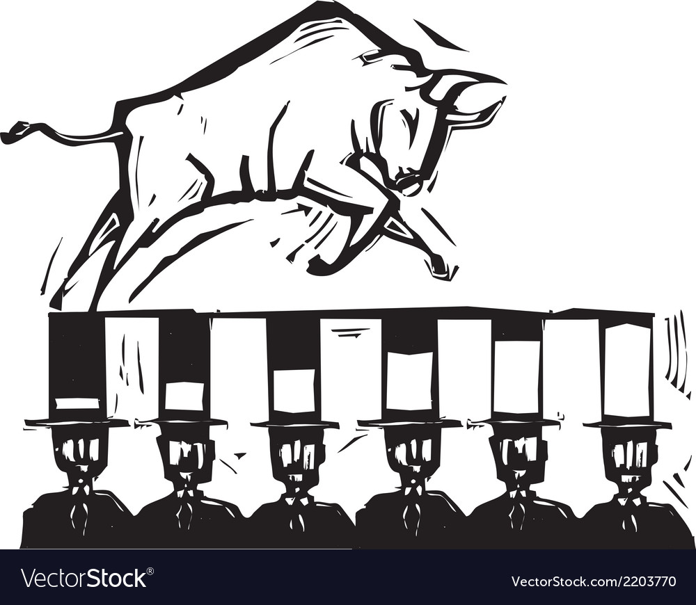 Bull market vector | Price: 1 Credit (USD $1)