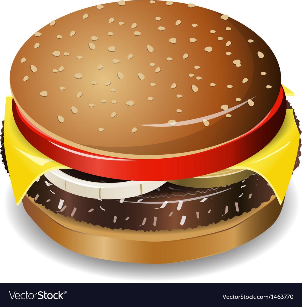 Cheeseburger vector | Price: 3 Credit (USD $3)
