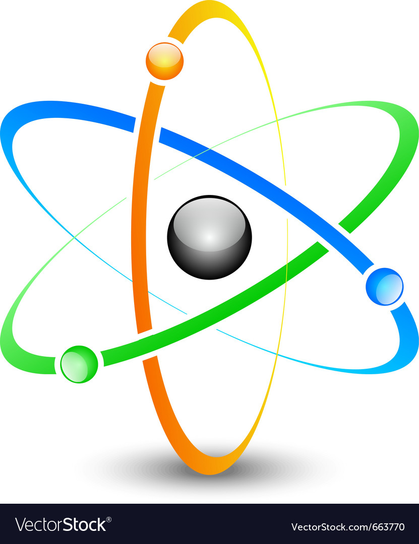 Colorful atom vector | Price: 1 Credit (USD $1)