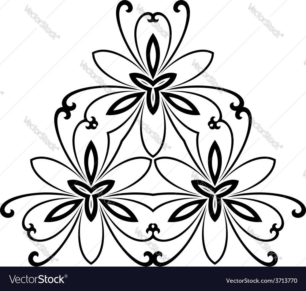 Damask pattern orient ornament vector | Price: 1 Credit (USD $1)