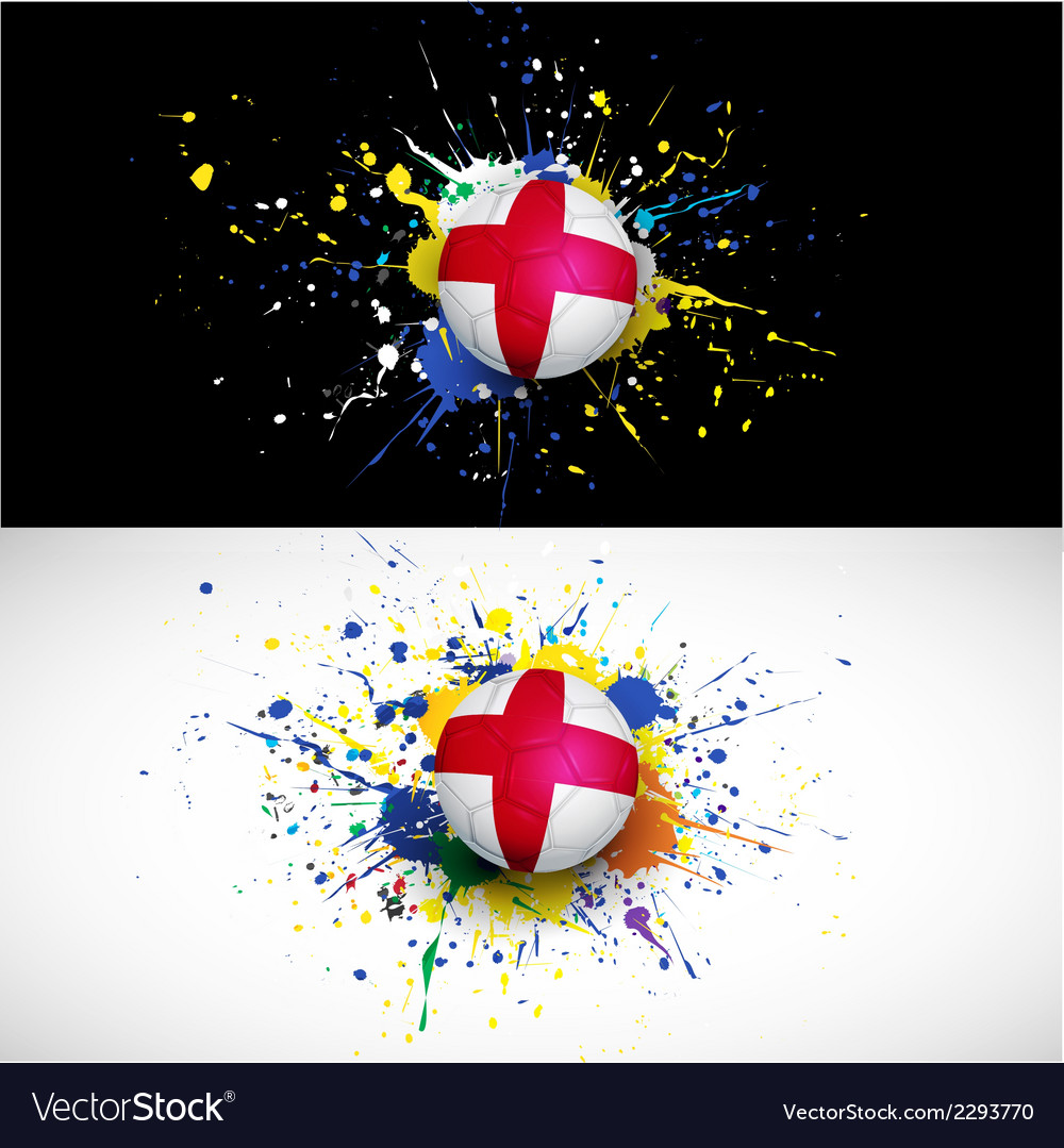 England flag with soccer ball dash on colorful vector | Price: 1 Credit (USD $1)