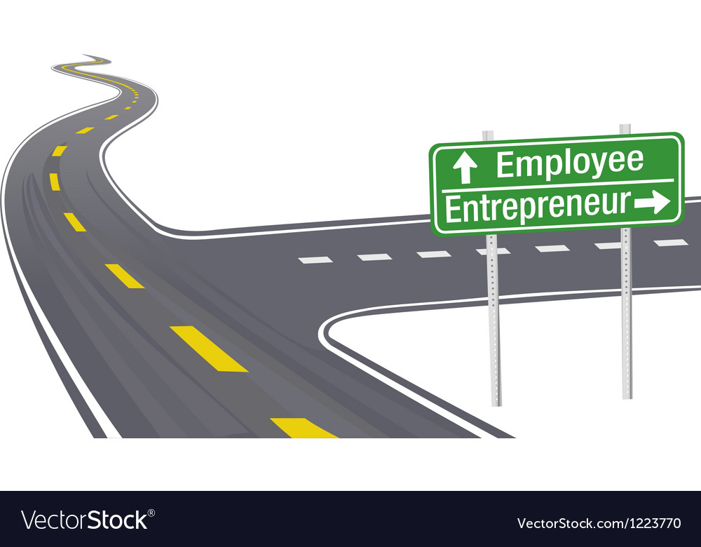 Entrepreneur employee business decision sign vector | Price: 1 Credit (USD $1)