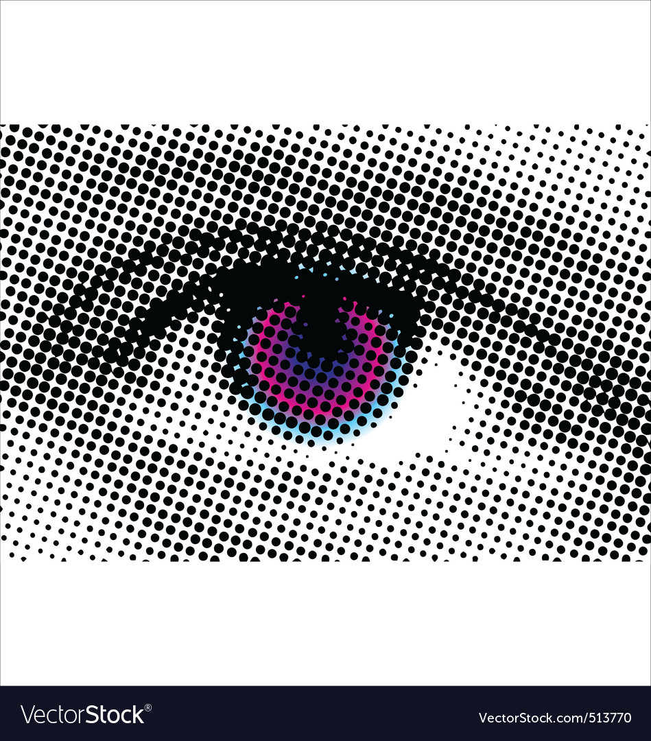 Eye halftone dots vector | Price: 1 Credit (USD $1)