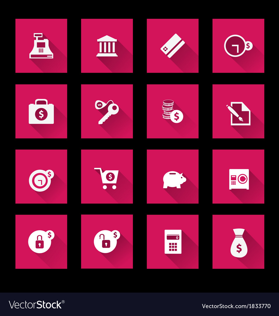 Finance and banking icons set vector   Price: 1 Credit (USD $1)