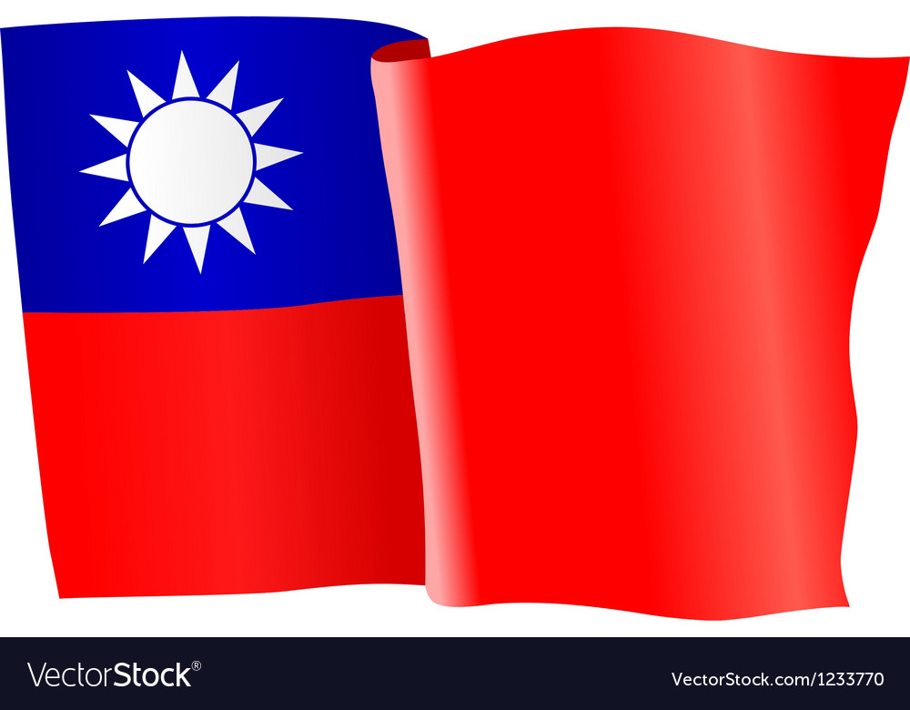 Flag of taiwan vector | Price: 1 Credit (USD $1)