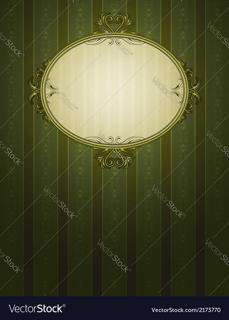 Green classical background vector | Price: 1 Credit (USD $1)