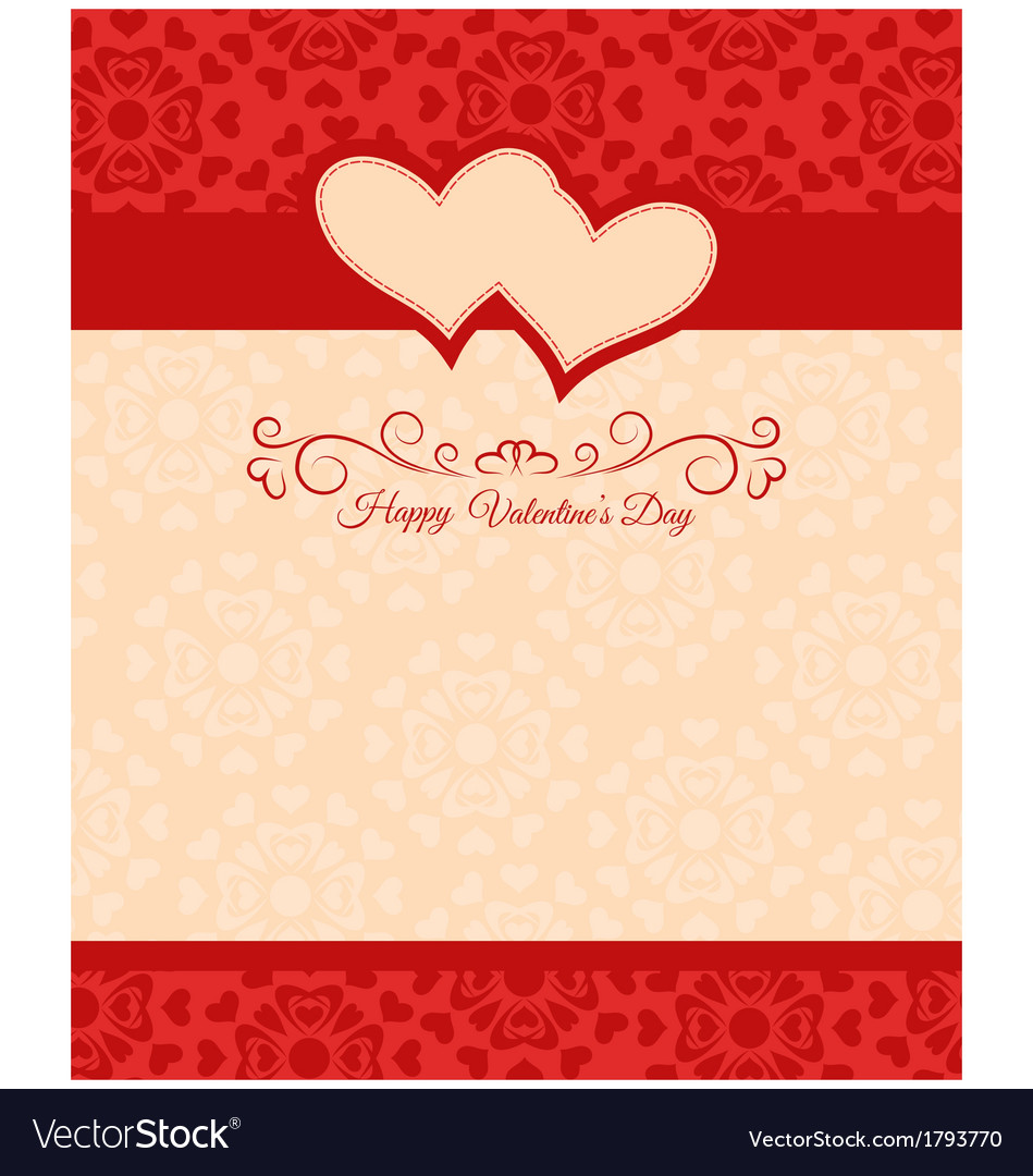 Greeting card happy valentines day vector | Price: 1 Credit (USD $1)