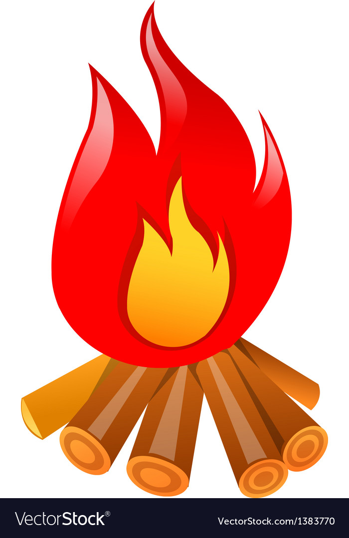 Icon bonfire vector | Price: 1 Credit (USD $1)