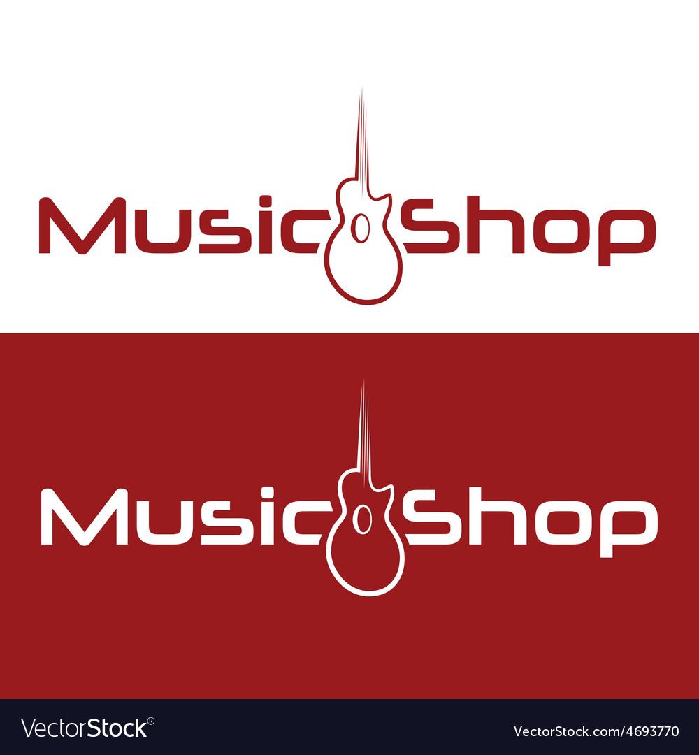 Music shop design template vector | Price: 1 Credit (USD $1)