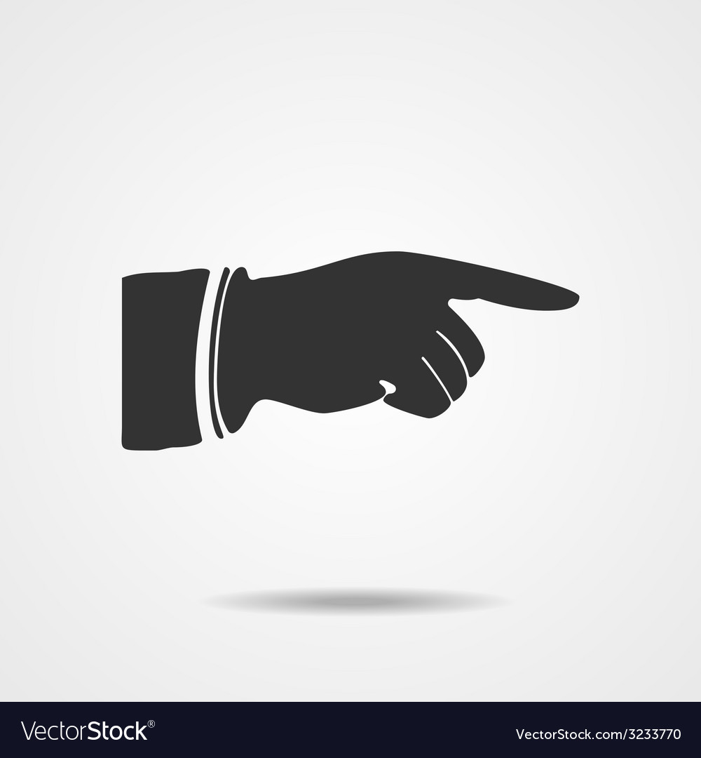 Pointing finger eps10 vector | Price: 1 Credit (USD $1)